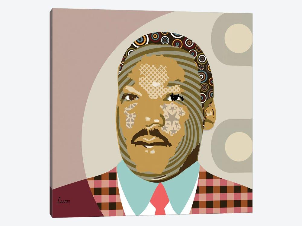 Martin Luther King Jr by Lanre Studio 1-piece Canvas Artwork