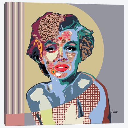 Marilyn Monroe Canvas Print #LNR64} by Lanre Studio Canvas Artwork