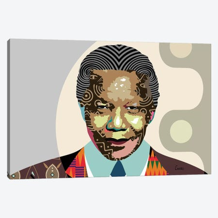 Nelson Mandela Canvas Print #LNR66} by Lanre Studio Canvas Art