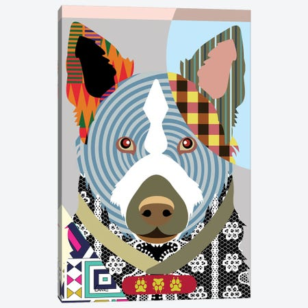 Norwegian Elkhound Canvas Print #LNR67} by Lanre Studio Canvas Art