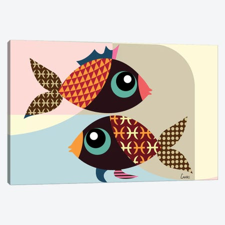 Pisces Zodiac Canvas Print #LNR70} by Lanre Studio Canvas Wall Art