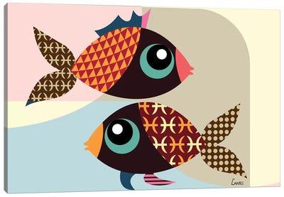 Pisces Zodiac Canvas Art Print