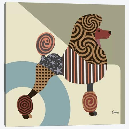 Poodle Canvas Print #LNR71} by Lanre Studio Canvas Art