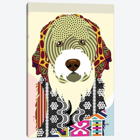 Portuguese Water Dog Canvas Print #LNR72} by Lanre Studio Canvas Art