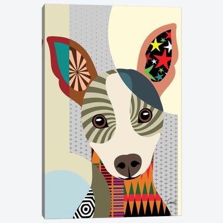 Rat Terrier Canvas Print #LNR73} by Lanre Studio Canvas Wall Art