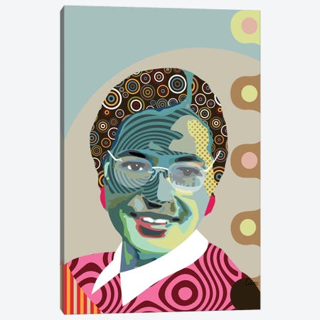 Rosa Parks Canvas Print #LNR75} by Lanre Studio Art Print