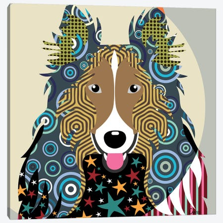 Rough Collie Canvas Print #LNR77} by Lanre Studio Canvas Print