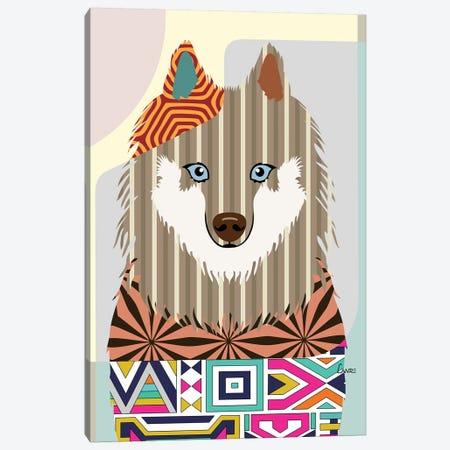 Samoyed Canvas Print #LNR80} by Lanre Studio Art Print