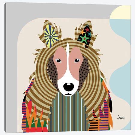 Shetland Sheepdog Sheltie Canvas Print #LNR83} by Lanre Studio Canvas Art Print