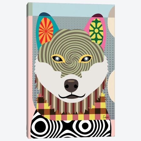Shiba Inu Canvas Print #LNR84} by Lanre Studio Canvas Artwork