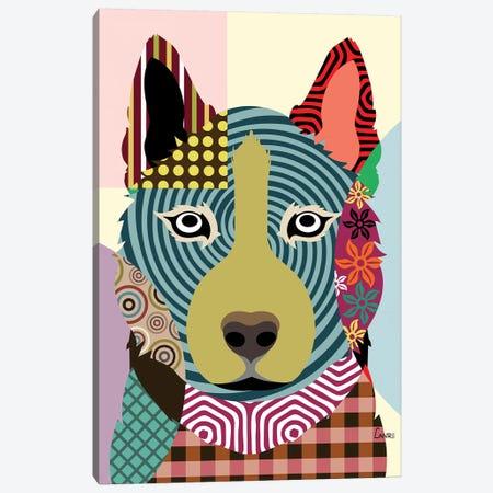 Siberian Husky Canvas Print #LNR85} by Lanre Studio Canvas Wall Art