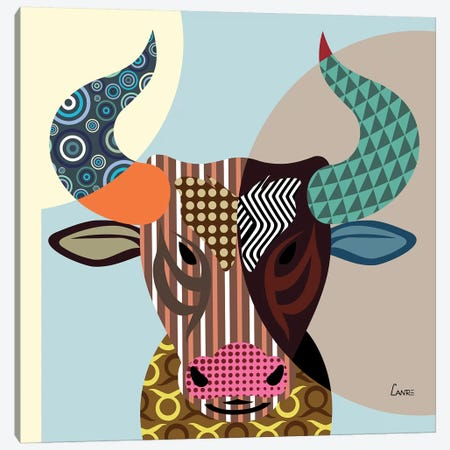 Taurus Zodiac Canvas Print #LNR88} by Lanre Studio Art Print