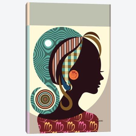 Virgo Zodiac Canvas Print #LNR90} by Lanre Studio Canvas Wall Art