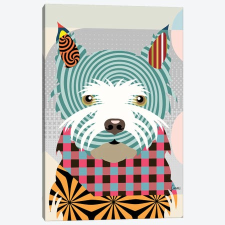 West Highland Terrier Canvas Print #LNR94} by Lanre Studio Canvas Art Print
