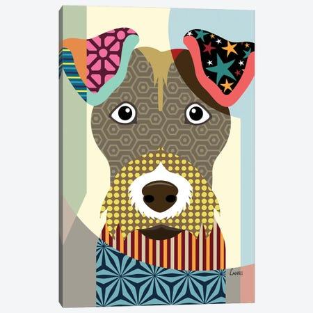 Wire Fox Terrier Canvas Print #LNR97} by Lanre Studio Canvas Print