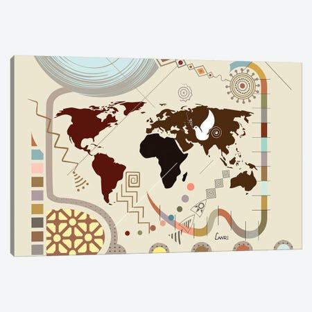 World Soaring Canvas Print #LNR98} by Lanre Studio Canvas Art