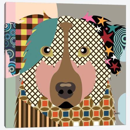 Australian Shepherd Canvas Print #LNR9} by Lanre Studio Canvas Wall Art