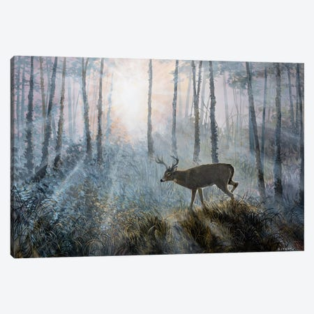 Deer Path IV 3-Piece Canvas #LNS2} by B. Lynnsy Art Print
