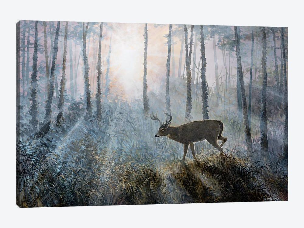 Deer Path IV by B. Lynnsy 1-piece Canvas Artwork