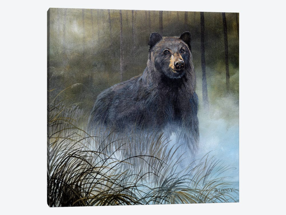 Misty Wild III by B. Lynnsy 1-piece Canvas Art