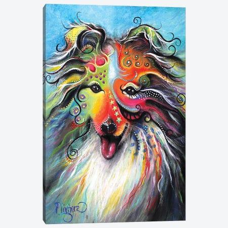 Boho Sheltie Canvas Print #LNT10} by Patricia Lintner Canvas Wall Art