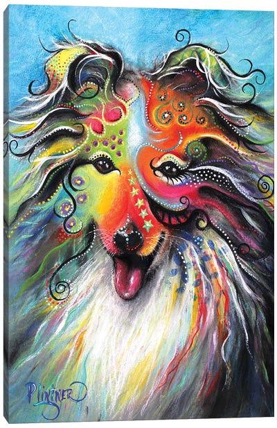Boho Sheltie Canvas Art Print