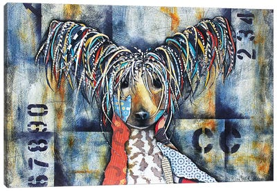 Chinese Crested Canvas Art Print