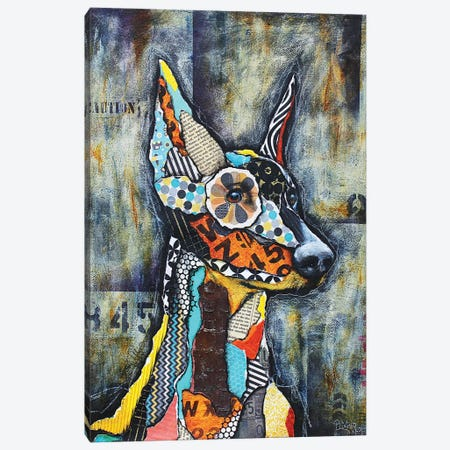Doberman Canvas Print #LNT15} by Patricia Lintner Canvas Art Print