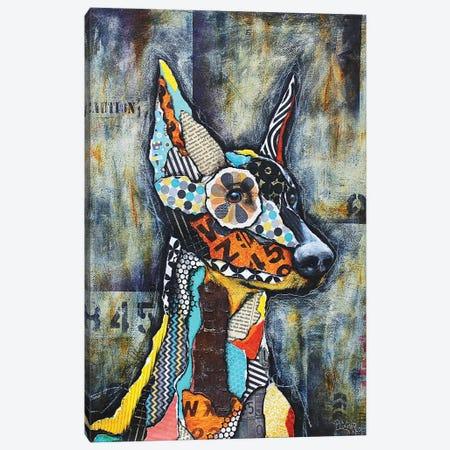 Doberman Canvas Print #LNT15} by Patricia Lintner Canvas Art Print