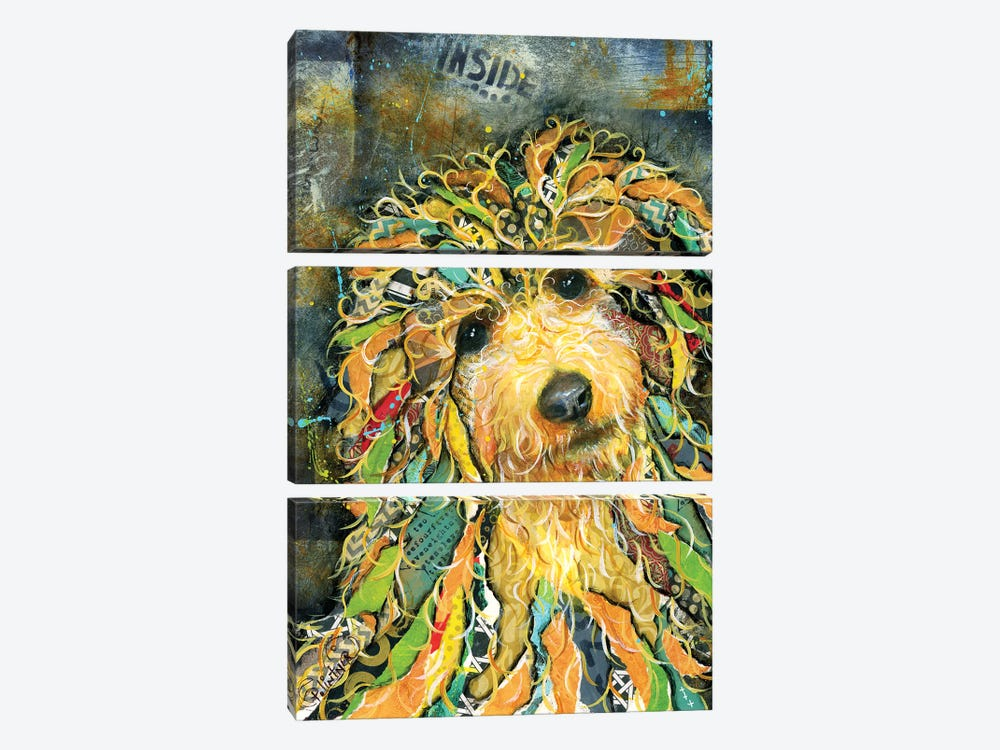 Goldendoodle by Patricia Lintner 3-piece Canvas Art
