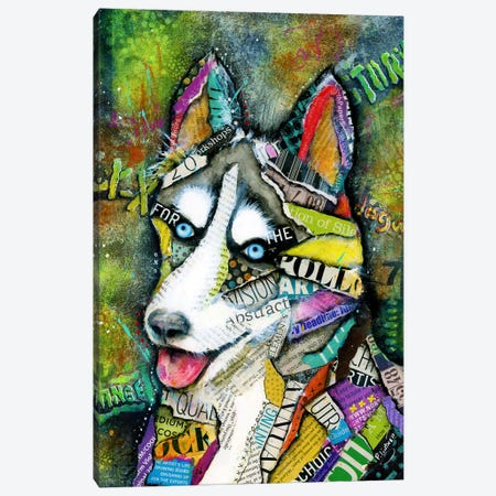 Husky Canvas Print #LNT17} by Patricia Lintner Canvas Art Print