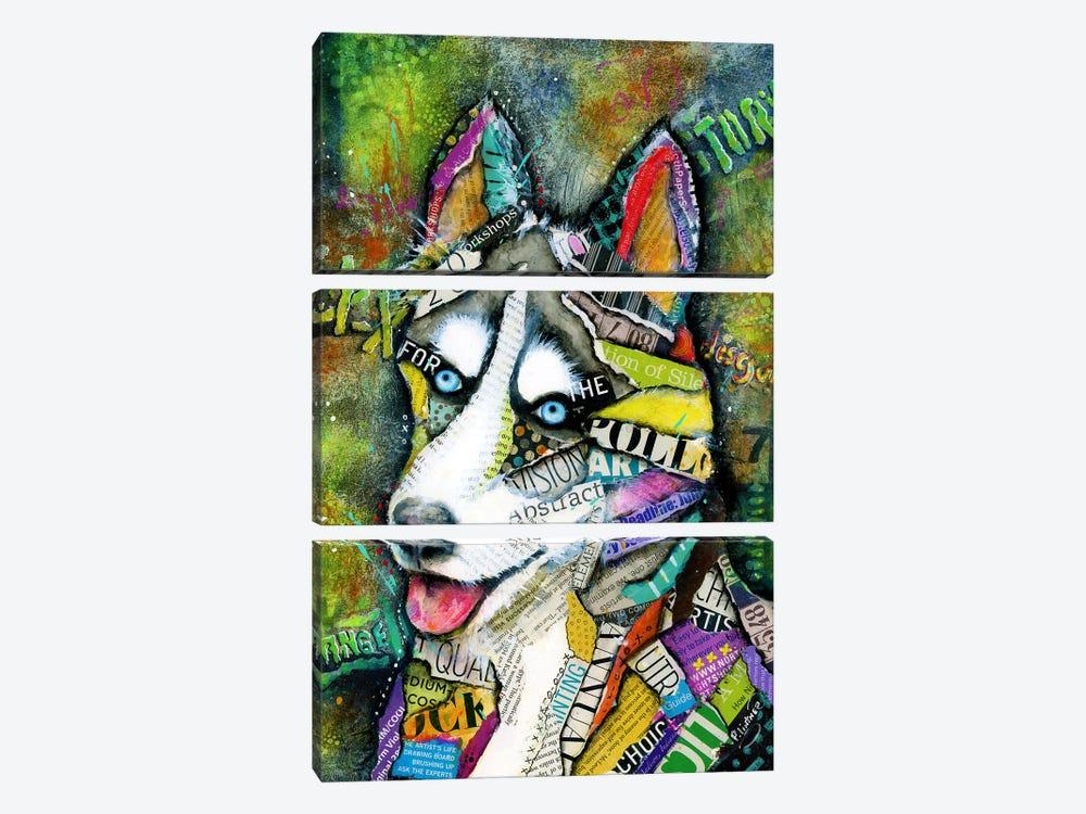 Husky by Patricia Lintner 3-piece Canvas Print