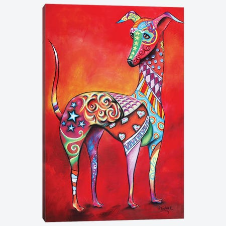 Italian Greyhound Canvas Print #LNT18} by Patricia Lintner Canvas Wall Art