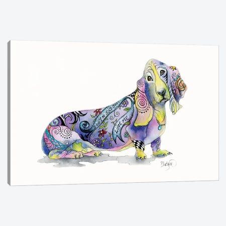 Tattoo Bassett Hound Canvas Print #LNT19} by Patricia Lintner Canvas Art