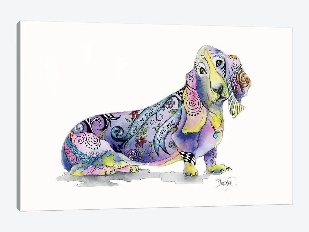 Tattoo Bassett Hound by Patricia Lintner 1-piece Art Print