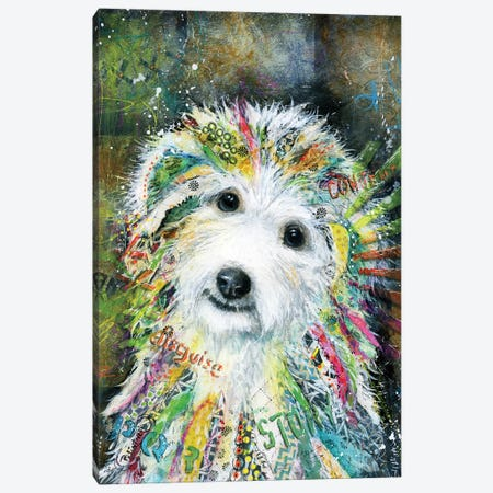 Bichon Canvas Print #LNT1} by Patricia Lintner Canvas Wall Art