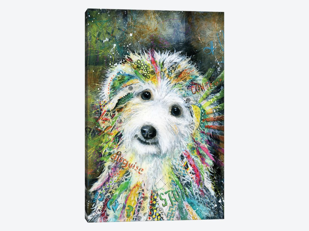 Bichon by Patricia Lintner 1-piece Canvas Wall Art