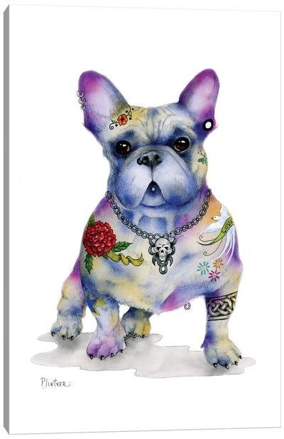 Tattoo Frenchie Canvas Art Print
