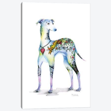 Tattoo Italian Greyhound Canvas Print #LNT22} by Patricia Lintner Canvas Art Print