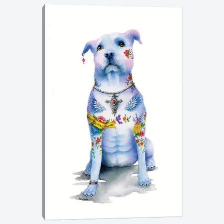 Tattoo Pitbull Canvas Print #LNT23} by Patricia Lintner Canvas Print