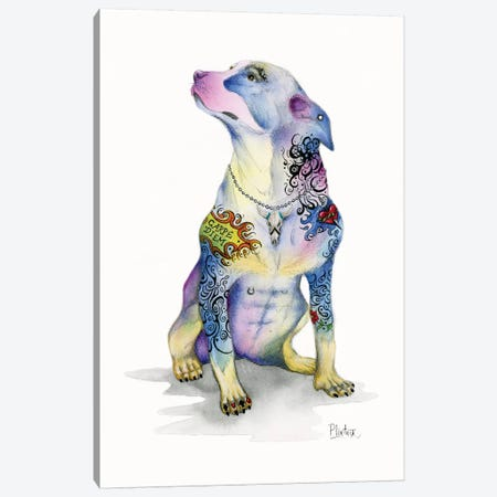Tattoo Rottweiler Canvas Print #LNT25} by Patricia Lintner Canvas Art