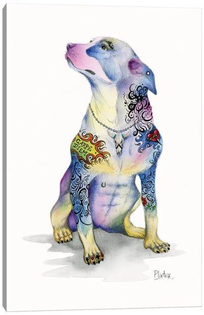Tattoo Rottweiler Canvas Art Print