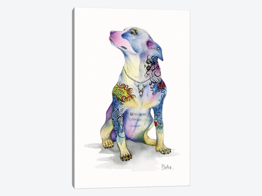 Tattoo Rottweiler by Patricia Lintner 1-piece Canvas Artwork