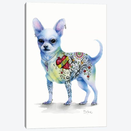 Tattoo Topo Canvas Print #LNT26} by Patricia Lintner Canvas Wall Art