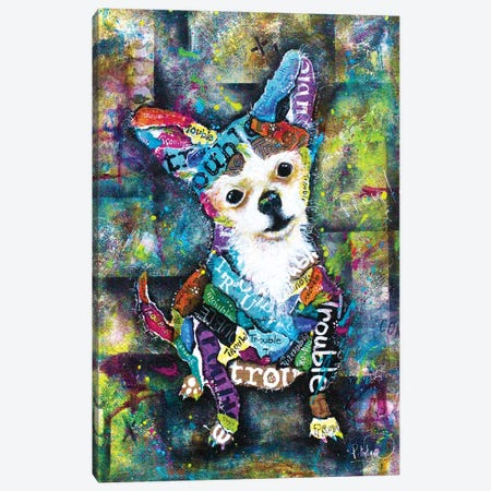 Trouble Canvas Print #LNT27} by Patricia Lintner Canvas Art