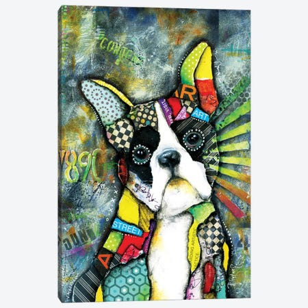 Urban Boston Terrier Canvas Print #LNT29} by Patricia Lintner Art Print