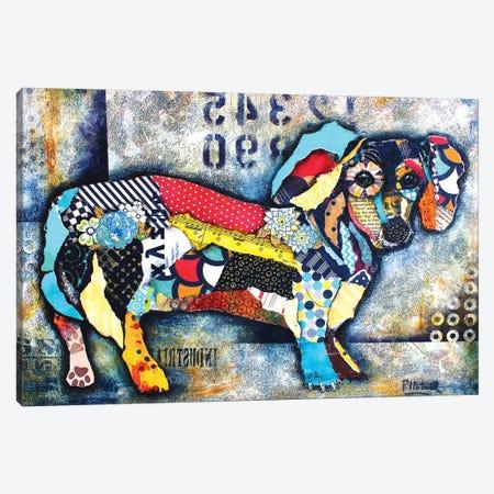 Urban Dachshund Body Canvas Print #LNT30} by Patricia Lintner Canvas Artwork