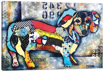 Urban Dachshund Body Canvas Art Print
