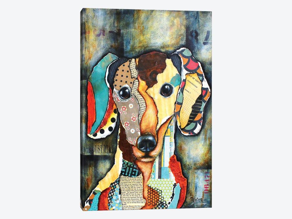 Urban Dachshund Head by Patricia Lintner 1-piece Canvas Art Print