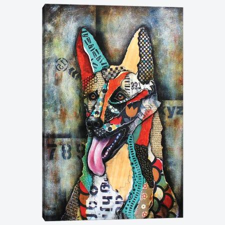 Urban German Shepherd Canvas Print #LNT34} by Patricia Lintner Art Print
